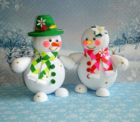 how to make a paper snowman 3d