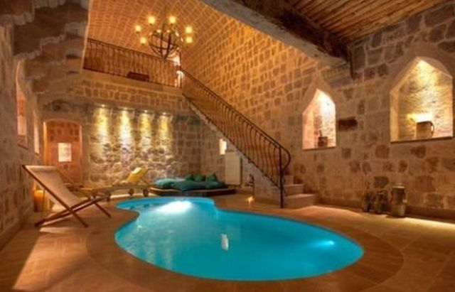 Gorgeous cave pool, @ argos in Cappadocia.Indoor Pools, Swimming Pools, Argo, Dreams Home, Pools House, Dreams House, Cappadocia Turkey, Basements, Hotels