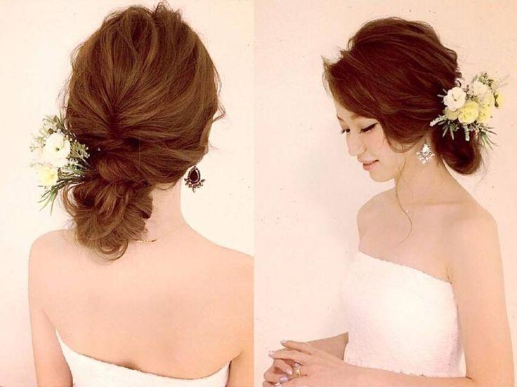 世界一かわいい花嫁に♪ロングヘアの結婚式ヘアアップアレンジ | AUTHORs