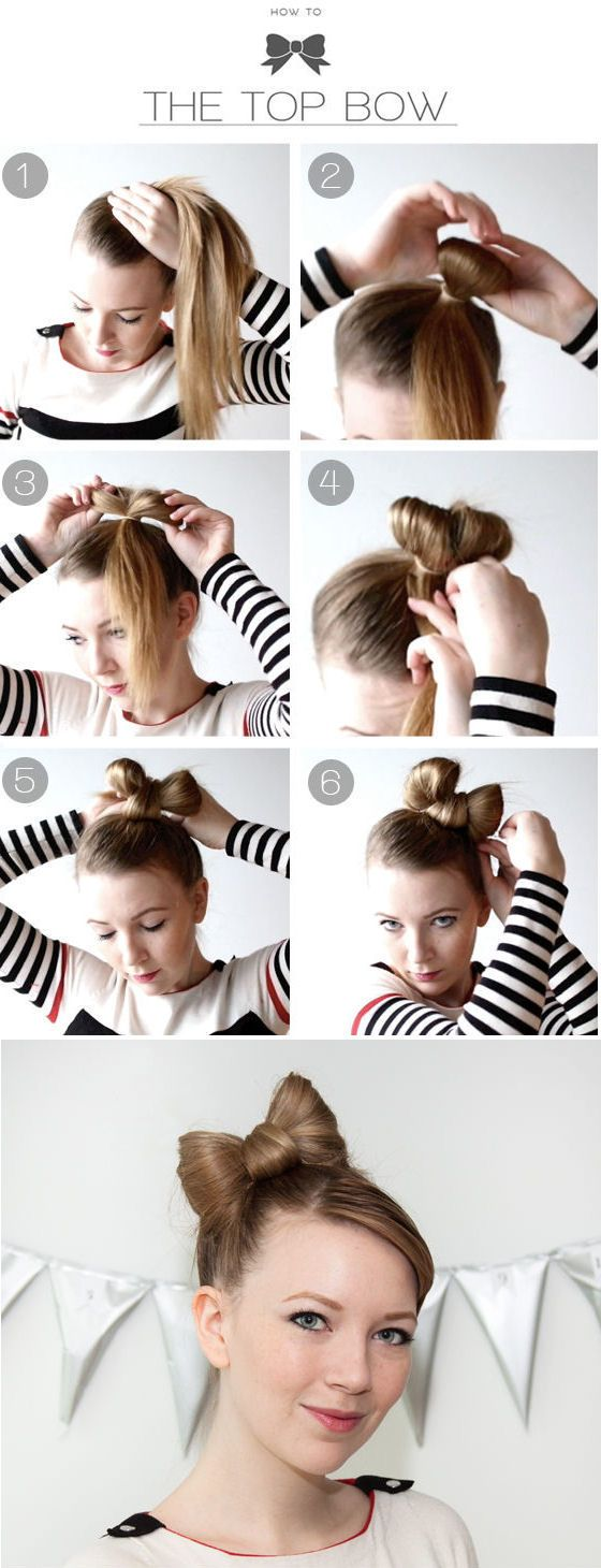 DIY Top Bow Hairstyle