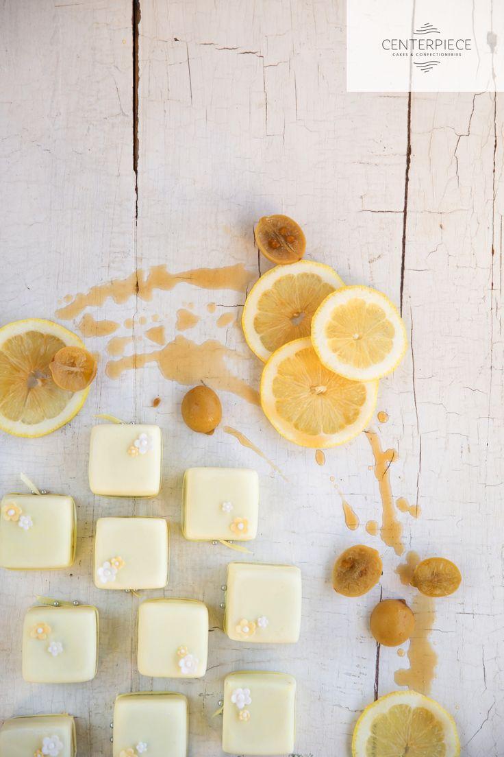 Lemon Blossom Petite Fours
