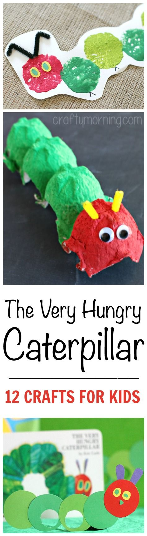 The Very Hungry Caterpillar Crafts For Kids - Create some keepsake crafts with your kids of everyone's favourite caterpillar!
