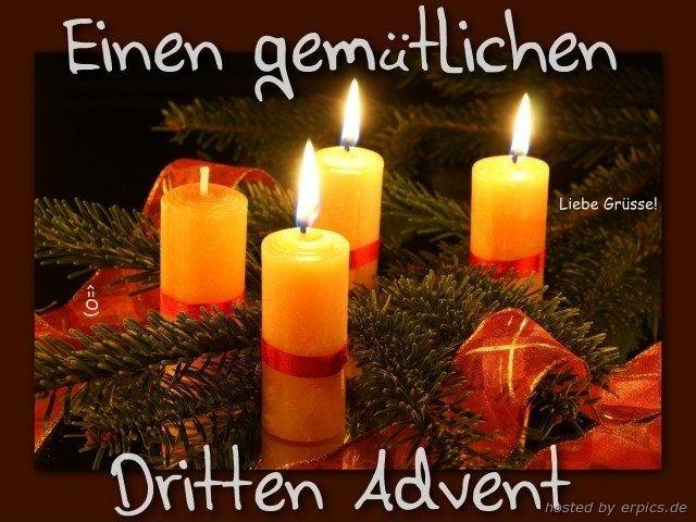 einen schönen 3 advent wünsch ich euch