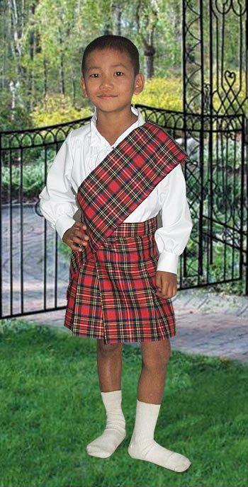 Kilt scozzese camicia e sciarpa Ensemble per di YourDressmaker