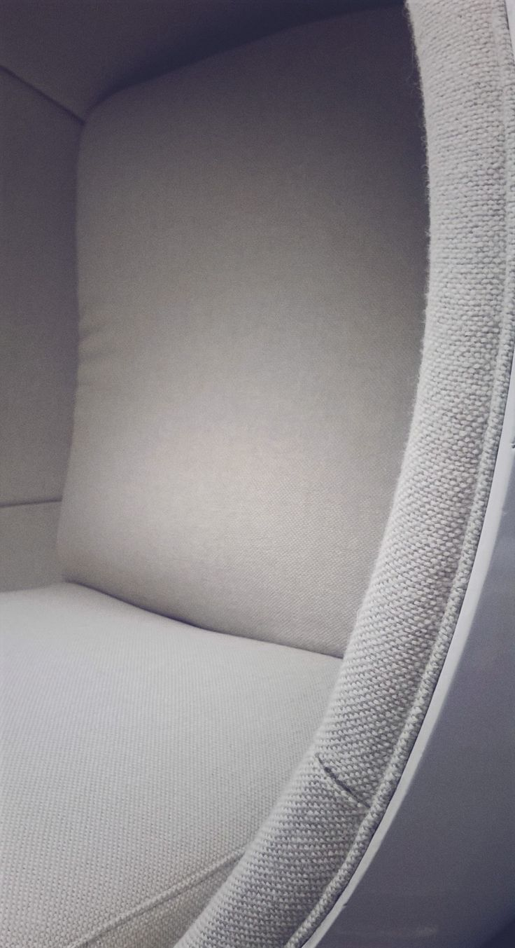 Eero Aarnio ball chair upholstered by Anu-Riina