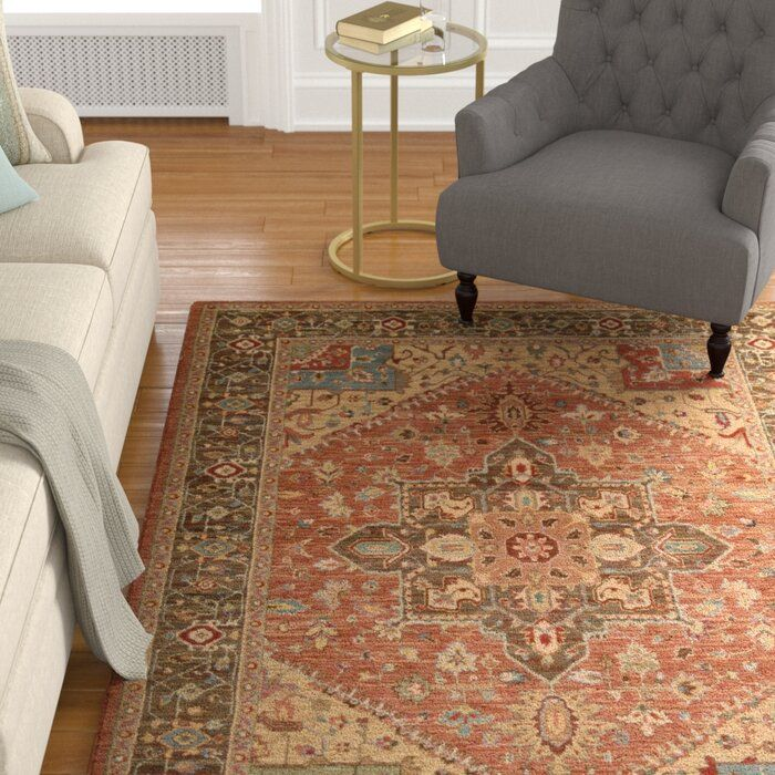 Darby Home Co Crownover Wool Rust Area Rug Reviews Wayfair Area Rugs Rugs Darby Home Co