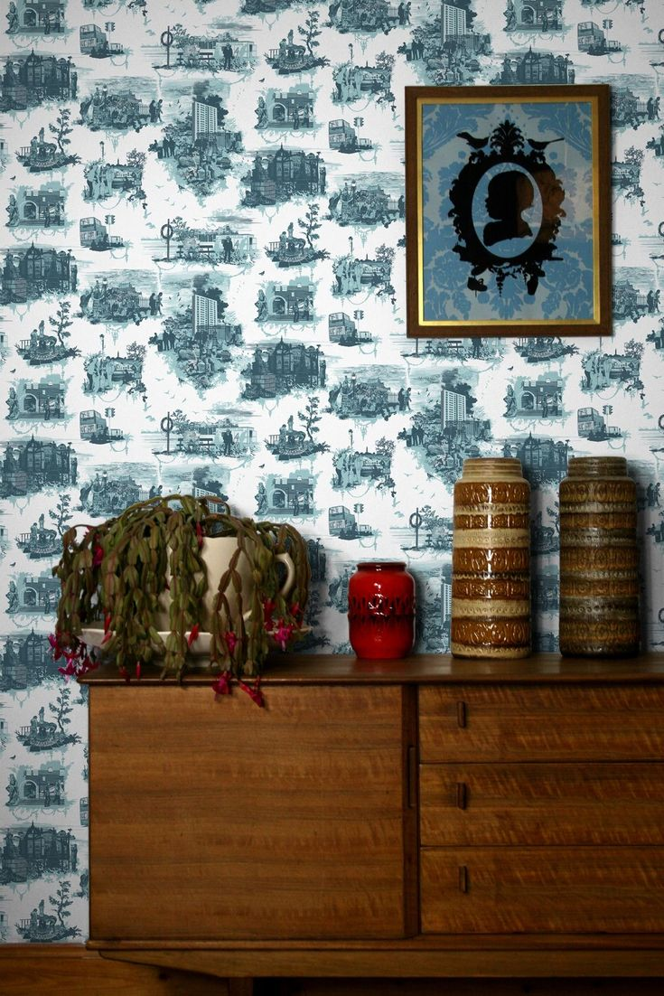 Civic Bee wallpaper from Timorous Beasties in Silver | Wonder ...