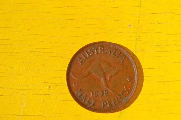 australian half penny date1948