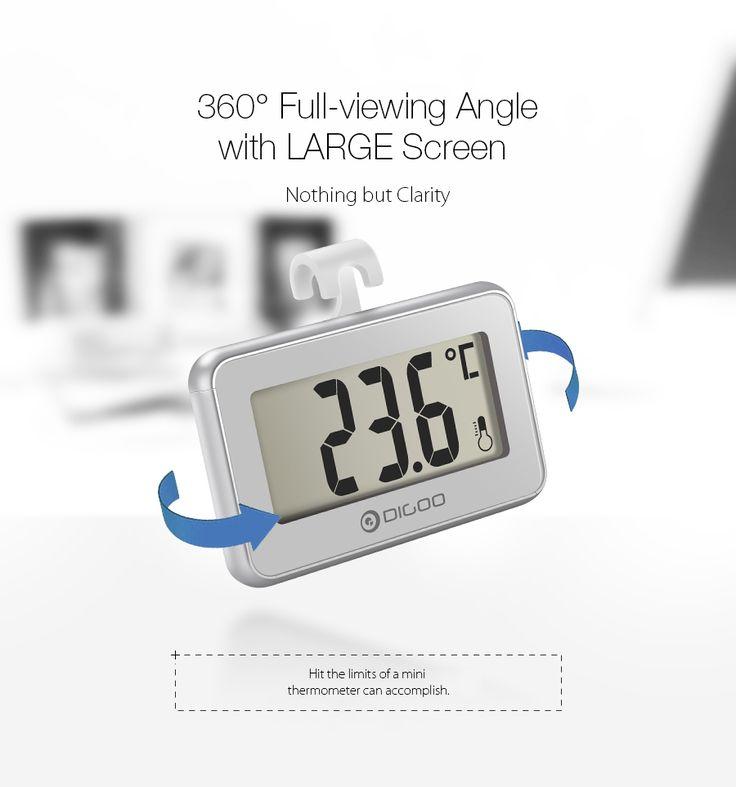 Digoo DG-TH1100 2 Little Couple Home Mini Digital Indoor Thermometer Temperature Meter Monitor