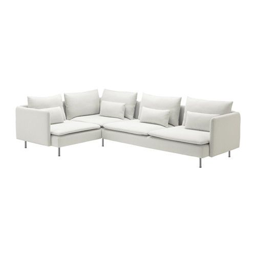 SÖDERHAMN Sectional, 4-seat corner - Finnsta white - IKEA, Would love this color in the farmhouse, but I know it won't last a week with kids, family, and dogs. Sigh.