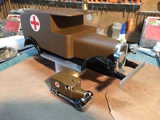 maquette ambulance tinin amerique style aroutcheff