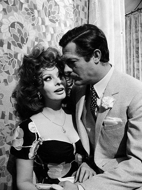 Sophia Loren and Marcello Mastroianni in Matrimonio all'italiana (1964)