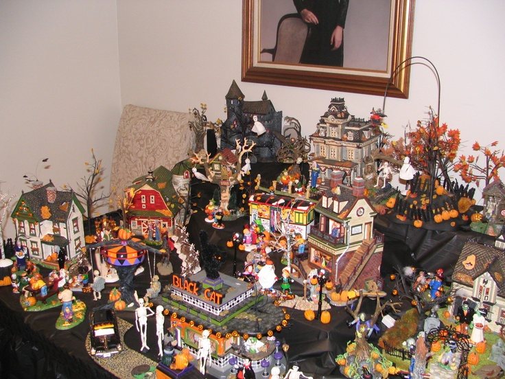 halloween village display dept 56 halloween display aunt debs halloween