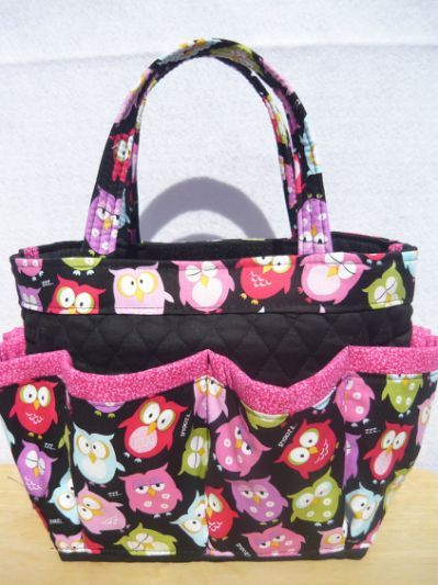 Owls print small bingo bag / great