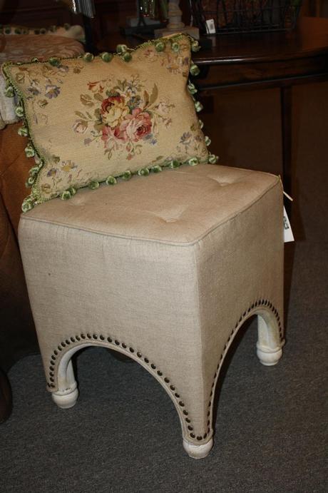 Linen Stool for any decor.