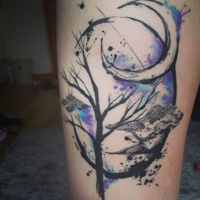45 Crescent and Full Moon Tattoo designs  – Up in the Sky                                                                                                                                                                                 More