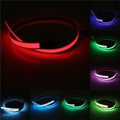 #Banggood Красочные электролюминесцентный провод лентой эль 8 цветов инвертор DC 12V 60cm  14mm (999818) #SuperDeals