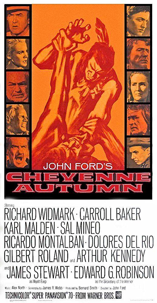 Sal Mineo, Karl Malden, Ricardo Montalban, Richard Widmark, Dolores del Rio, Carroll Baker, Victor Jory, Arthur Kennedy, Gilbert Roland, and Patrick Wayne in Cheyenne Autumn (1964)