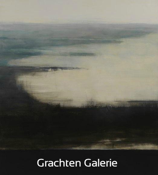 Z.t. 20   Andre Hoppzak   Schilderij   Painting   Kunst   Art   Blauw   Blue   Groen   Green   Wit   White   Grijs   Grey   Grachten Galerie