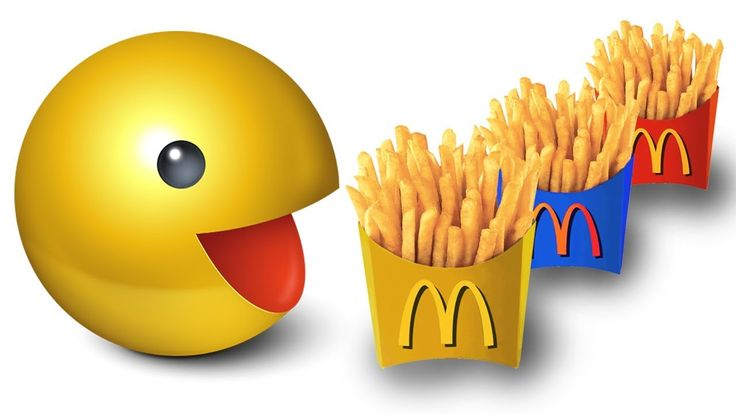 Learn Colors with Pacman & Giant McDonalds Food | Colors Learning Video ...