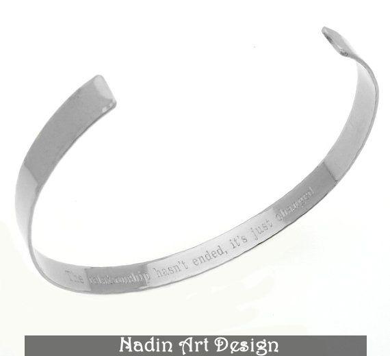 Metallarmband mit Gravur. Freundschaftsarmband  von EngravedJewelry auf DaWanda.com