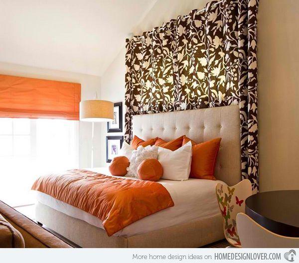 Die besten 25+ Orange bedroom curtains Ideen auf Pinterest - schlafzimmer ideen orange