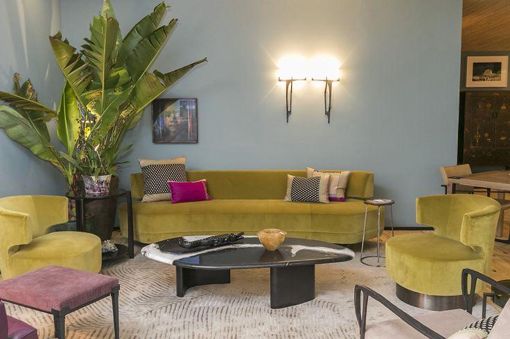 Inspiração do dia: sofá curvo