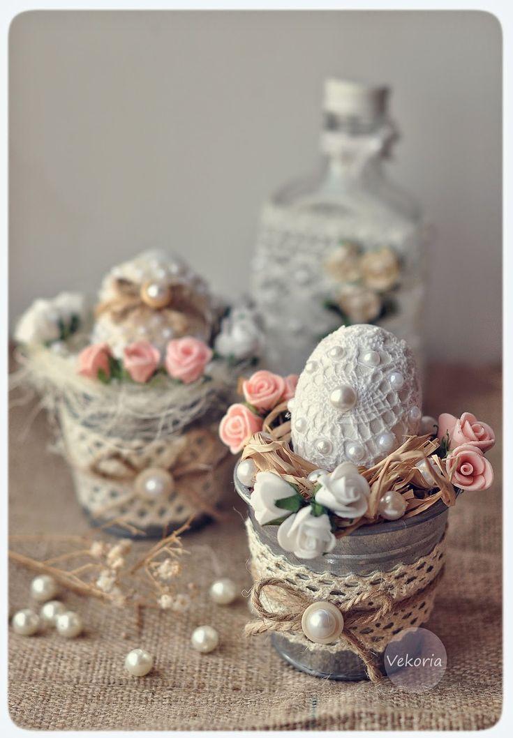 Vekoria.Творческий стеллаж Виктории Сокур: Пасхальные яйца в кружеве