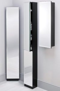 Tall Bathroom Corner Cabinets With Mirror