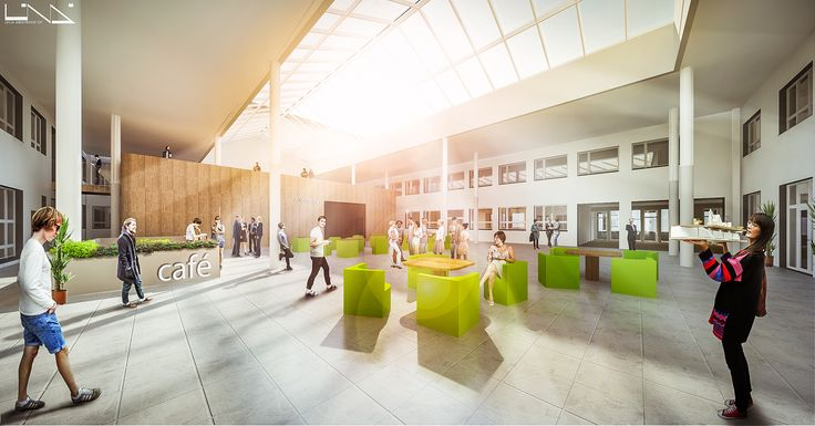 Illustration of Alere-building on Palosaari Campus (estimated time of completion 2017).
