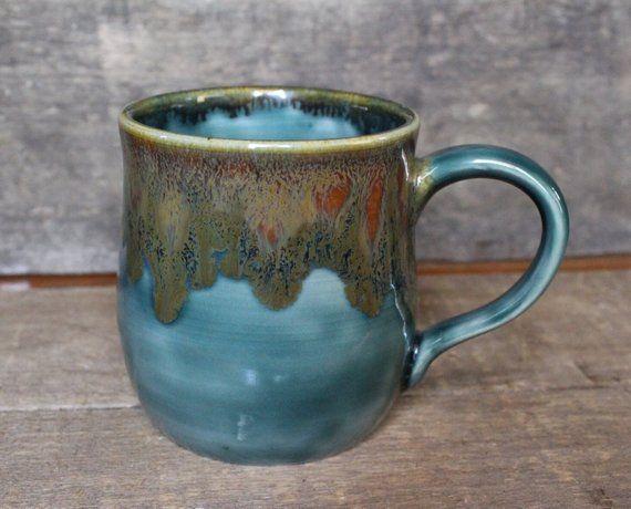 Rainforrest Mug Pottery Mug Ceramic Mug Handmade Mug