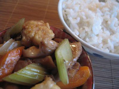 Andreea's Chinesefood blog: Peste chinezesc cu morcovi, telina si ciuperci