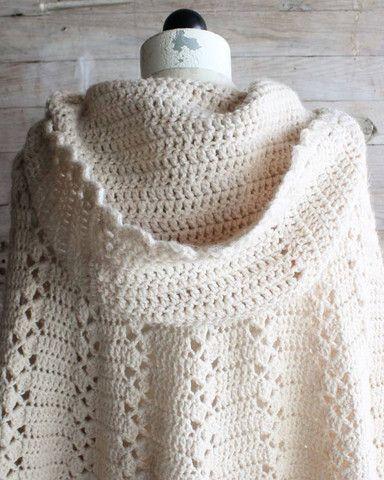 Picture of Long Hooded Cape Vintage Crochet Pattern Crochet pattern from http://www.MaggiesCrochet.com
