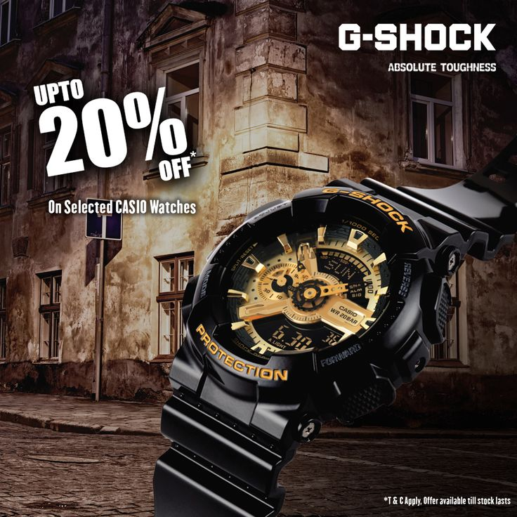 Upto 20% off on ‪#‎Casio‬ G-SHOCK Collection!!