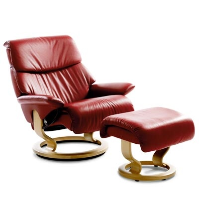 ekornes stressless chair ottoman i bought two of these similar model in their winered wine. Black Bedroom Furniture Sets. Home Design Ideas