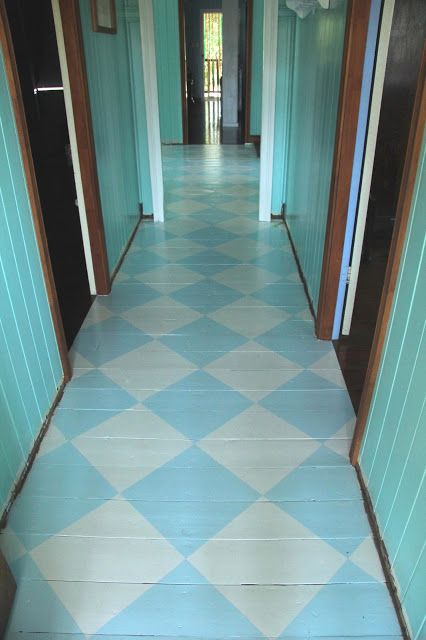 crazy house capers: Saving old floorboards - part 3, painted checkerboard floor.
