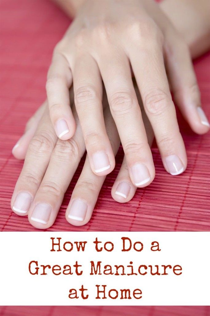 You don't have to spend all kinds of time and money at the salon to have a great looking manicure. Here is how you can do a great manicure at home. Supplies needed: nail polish remover, cotton ball…