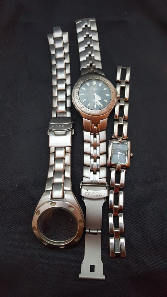 fossil watch lot for parts repair wristwatch  #Fossil