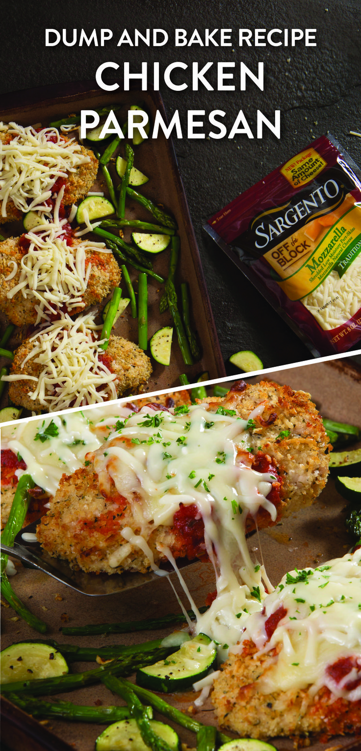 Making dinner doesn't have to be hard...or a lot of dirty dishes. Make life easy with a one pan recipe for chicken parmesan with roasted zucchini and asparagus. Simply place all the ingredients on one pan and bake to create a meal perfect for lunch, dinner or as a leftover. This recipe includes boneless chicken breasts, bread crumbs, ripe zucchini and fresh asparagus, Italian seasoning and Mozzarella that's always shredded from blocks of real, natural cheese. For the recipe, visit…