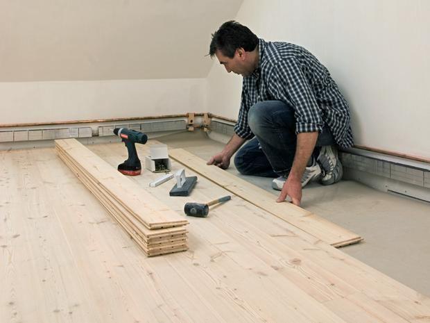 Holzdielen Verlegen Bauhaus Holzdielen Holzdielenboden