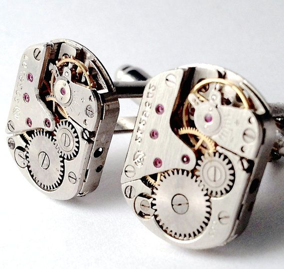 Men's Vintage Watch Movement Cuff Links New by Lynx2Cuffs on Etsy