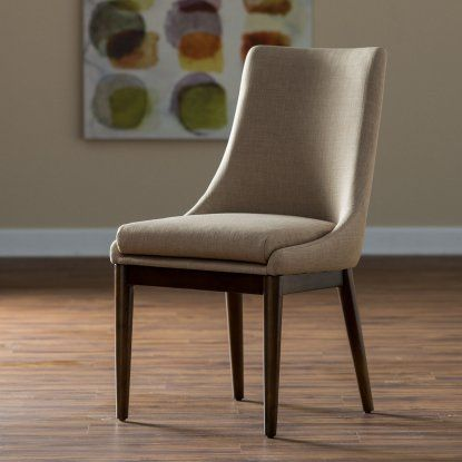 Belham Living Carter Mid Century Modern Upholstered Dining Chair - Set of 2 - Dining Chairs at Hayneedle