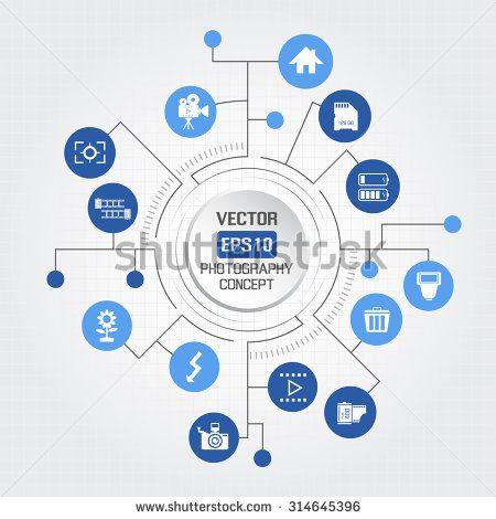 Big circle photography concept - stock vector