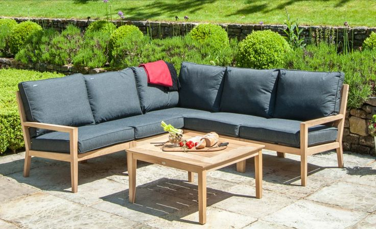 Outdoor Lounge Sofa - made from Bolivian hardwood.