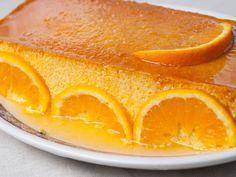 Receta de Flan de Naranja.