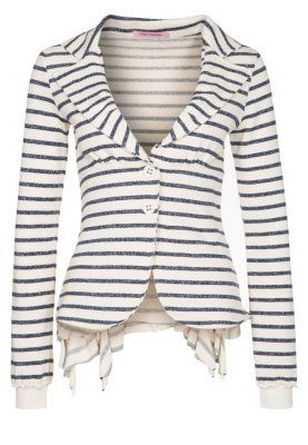MERCY - Blazer - bianco stripes jacket. black and white