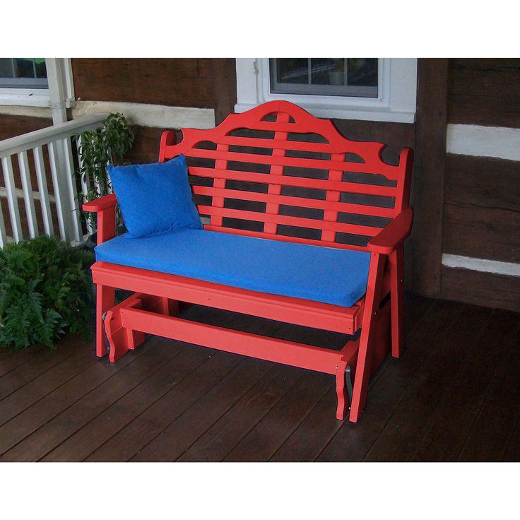 Au0026L Furniture Company Marlboro Recycled Plastic 4ft Glider Chair