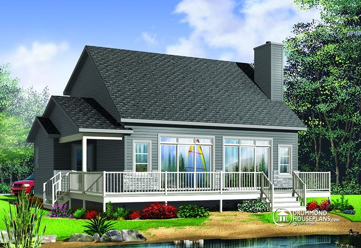 House Plan W3965 New Beautiful Cottage For Baby Boomer Mezzanine 3 Bedrooms And Waterfront