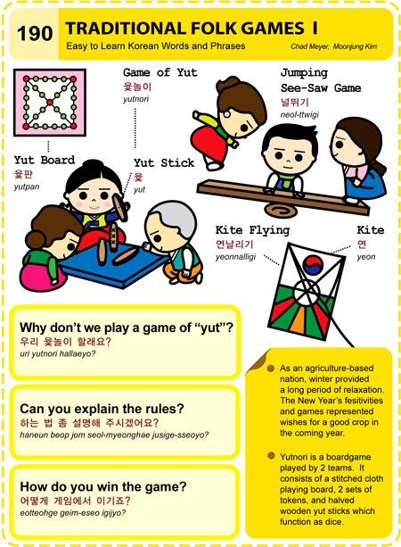 Online games for learning Korean language