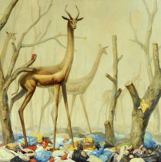 Фантастические картины животных в постапокалиптической среде. Художник Мартин Виттфут
